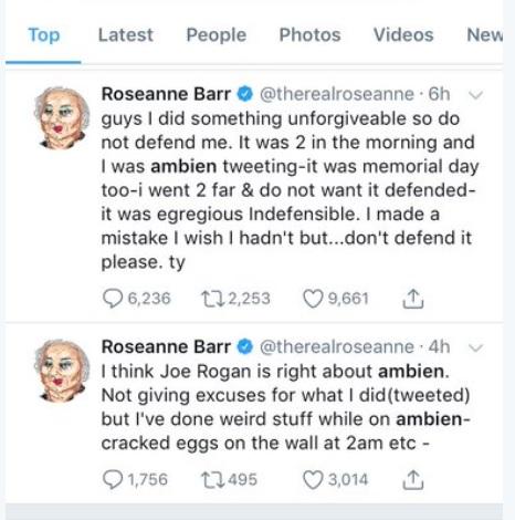 Roseanne Barr - Ambien tweeting