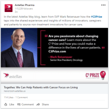 Astellas - Changing Cancer Care - LI post 2