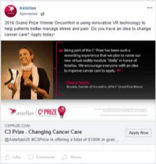 Astellas - FB - Changing Cancer Care Prize - FB ad 1