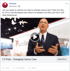 Astellas - FB - Changing Cancer Care Prize - FB ad 4