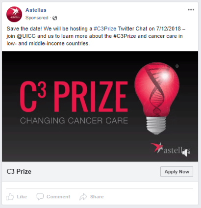 Astellas - FB - Changing Cancer Care Prize - FB ad 6