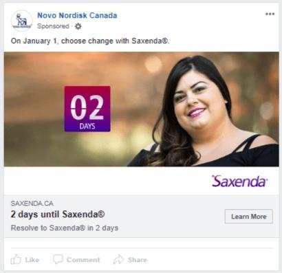 Saxenda - new year countdown - 2 days v1