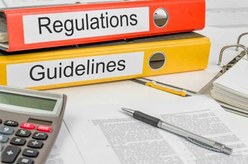 Regulatory and Guidelines binders