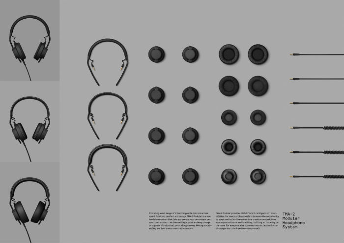 "PRODUCT DESIGN LION ""TMA - 2 Modular Headphone System para AIAIAI por la agencia AIAIAI Copenhagen/Kilo Design Vlaby, Dinamarca."