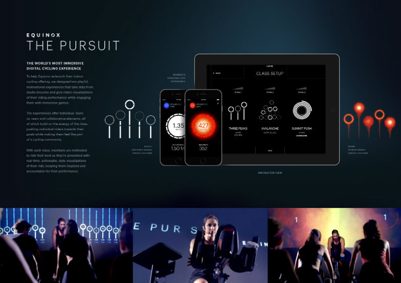 "PRODUCT DESIGN LION ""The Pursuit by Equinox"" para Equinox por R/GA New York, Estados Unidos."