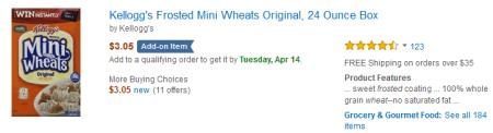mini wheats add on