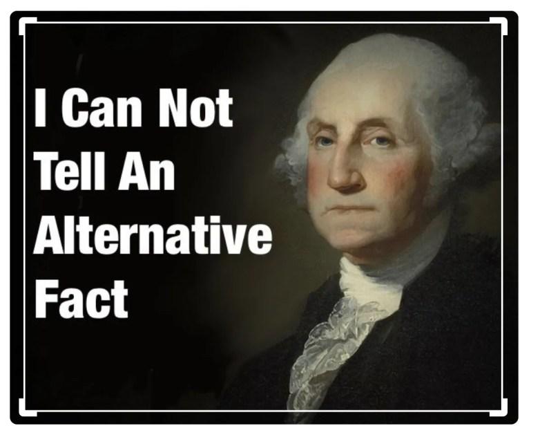 alternative facts meme going viral - image of George Washington