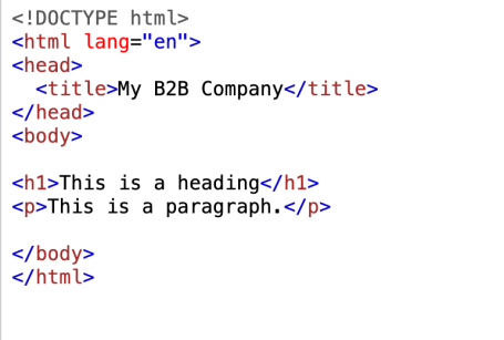 HTML title tag code for SEO article