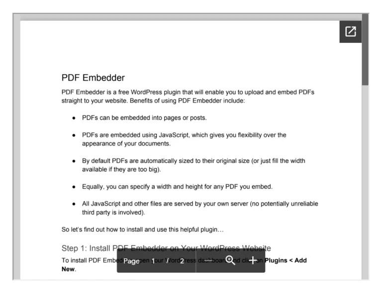 Embedding a PDF in WordPress through Google Drive