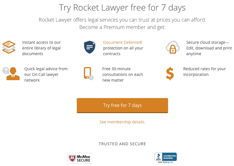 rocket lawyer reviews