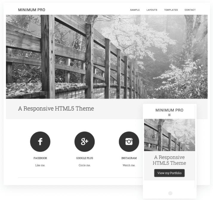 ultra minimal wordpress theme