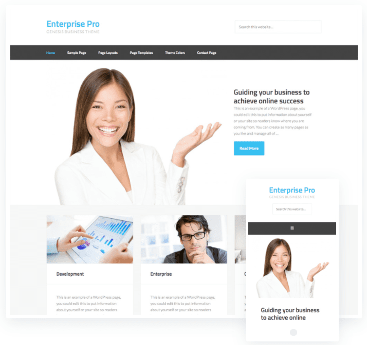 wordpress templates for business