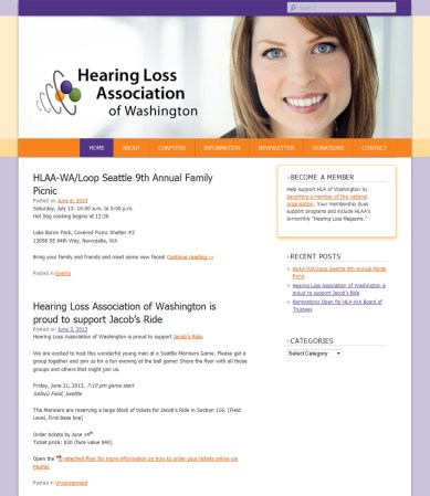 screenshot Hearing Loss Association of Washington