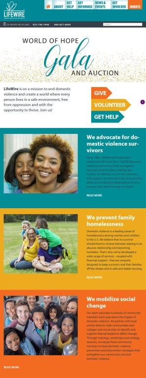 domestic violence nonprofit website