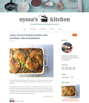 Food blog screenshot
