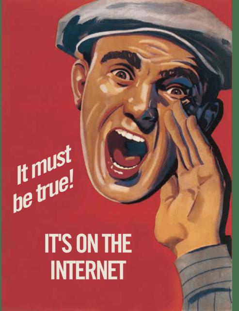 Dark Posts On Internet Must Be True