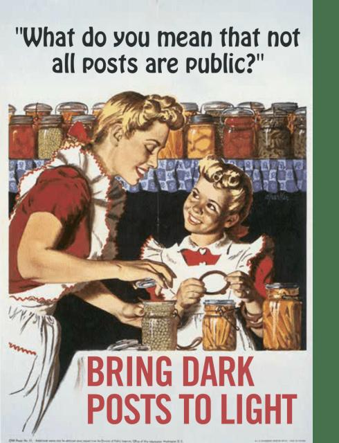 Social Dark Posts To Light