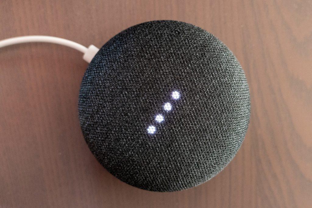 Google Home Mini by Mack Male via Flickr CC