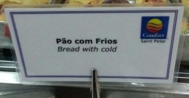 Erros de tradução no cardápio