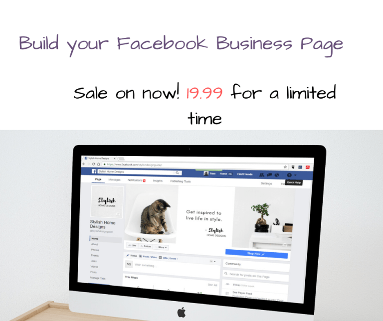 Special price for Facebook business page self study course for summer 19.99 – 10 CPD hours