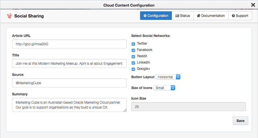 Social Sharing Cloud Content Configuration 900x482pxl