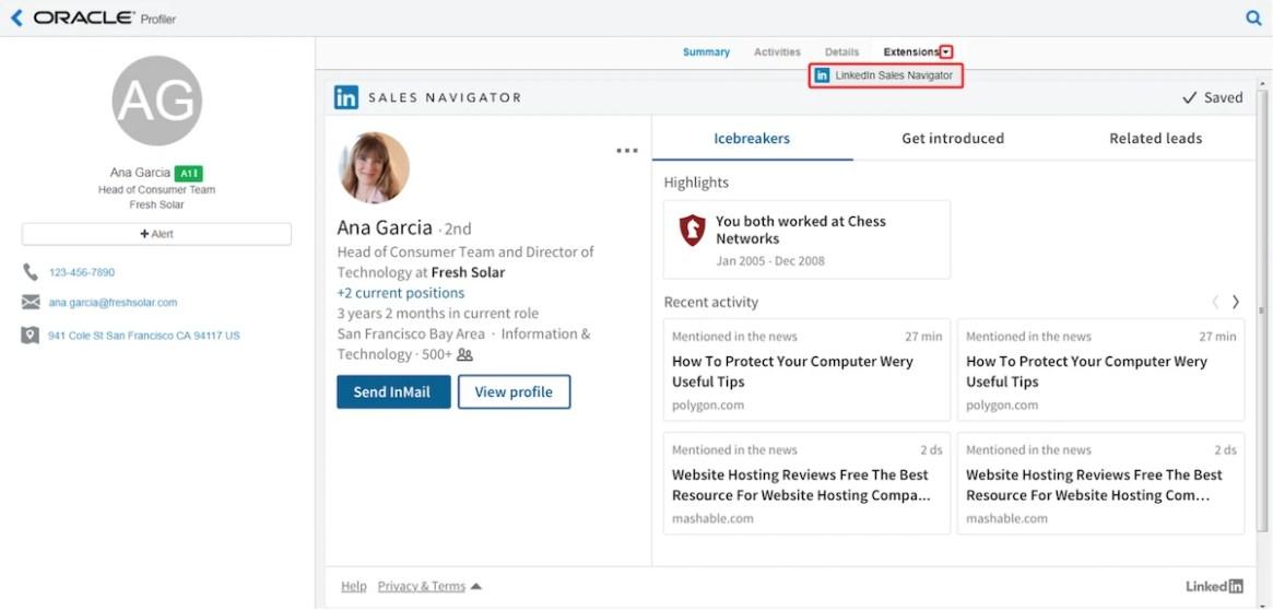 SCREEN SHOT Linkedin Sales Navigator and Profiler 1200pxl