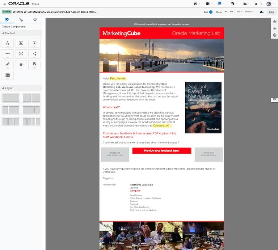 Eloqua Email Design Editor Full Screen Grab 900px