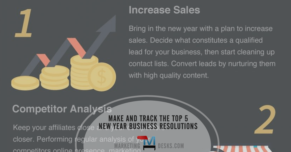 Infographic     Tracking 5 Small Business New Year Resolutions