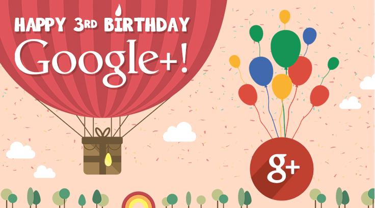 Google Plus - terceiro aniversário