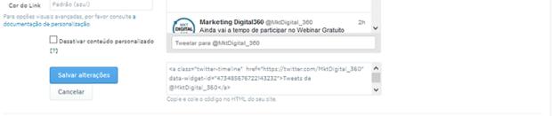 Twitter HTML