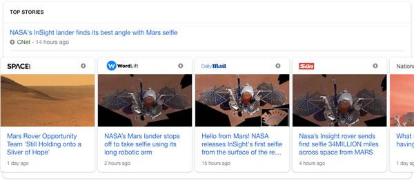 Top stories do Google para ilustrar que as páginas AMP não serão mais um requerimento para conquistar esta posição.