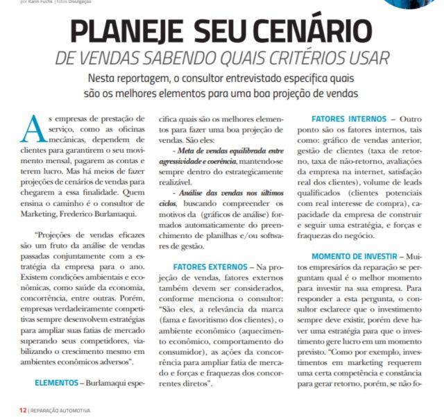 Revista Reparação Automotiva, entrevista com Fred Burlamaqui