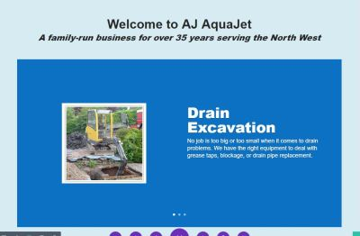 drain cleaning website sales funnel design