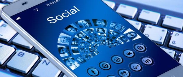 social media on smartphone