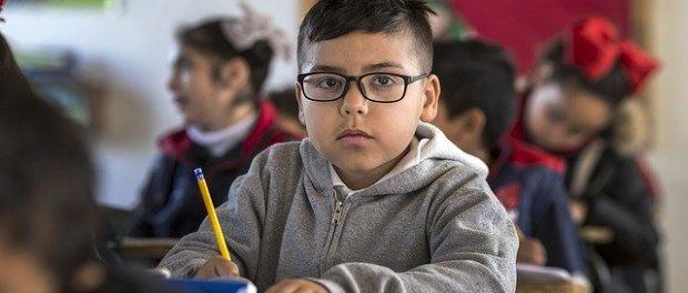 boy in classroom