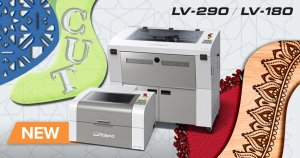 Roland DG LV-180 and LV-290 laser engravers.