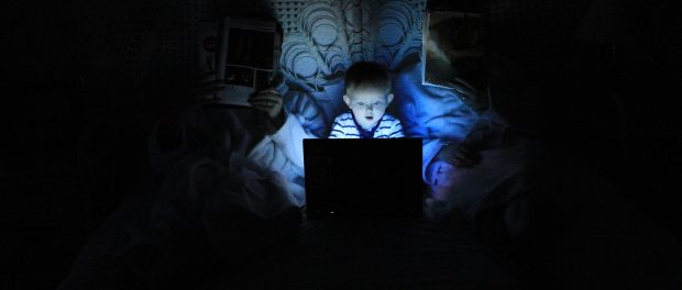 boy using a laptop