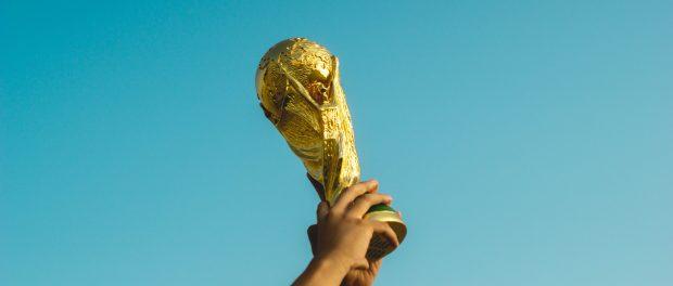 Trophy being held