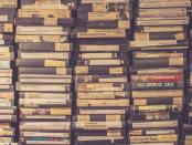 a stack of video casettes