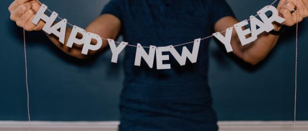 'Happy New Year' banner
