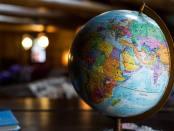 a globe map