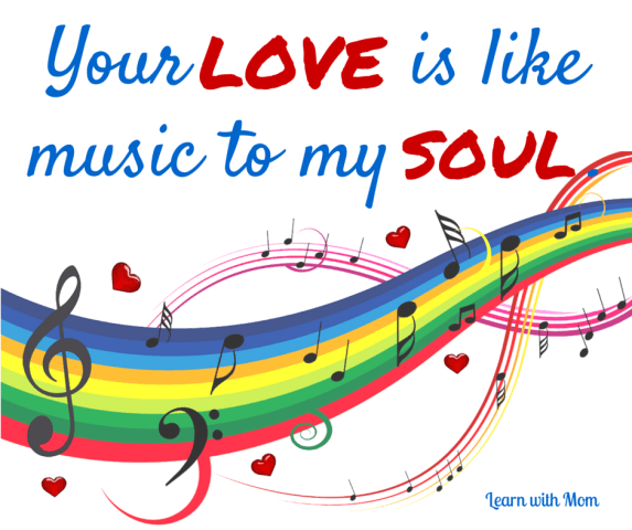 Your love is like a music to my soul.