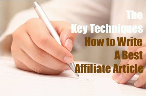 how to write affiliate articles