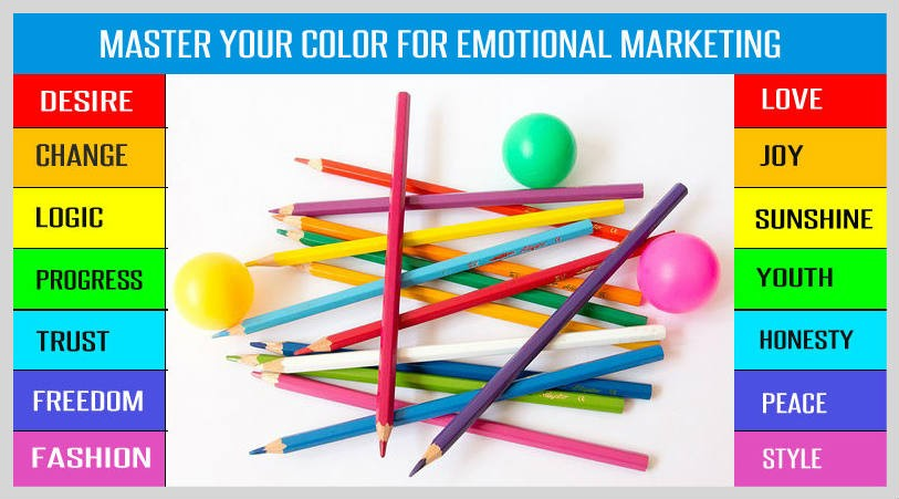 Emotional marketing strategy with color