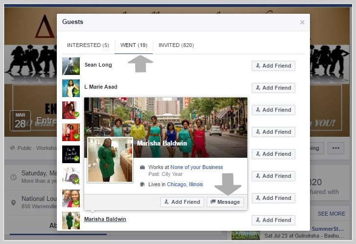 Facebook message marketing approach