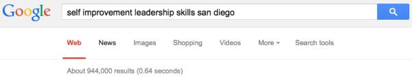 Self Improvement Leadership Skills San Diego SERP