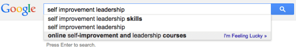 Self Improvement Leadership Suggestions SERP