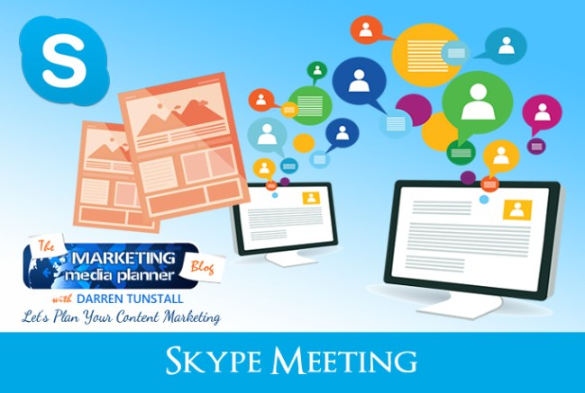 I Will Help Plan A Content Marketing Strategy Via Skype Meeting