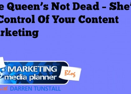 The Queen's Not Dead – She's In Control of Your Content Marketing