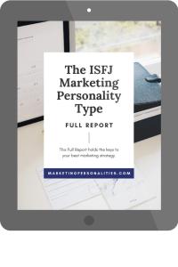 isfj marketing personality type full report